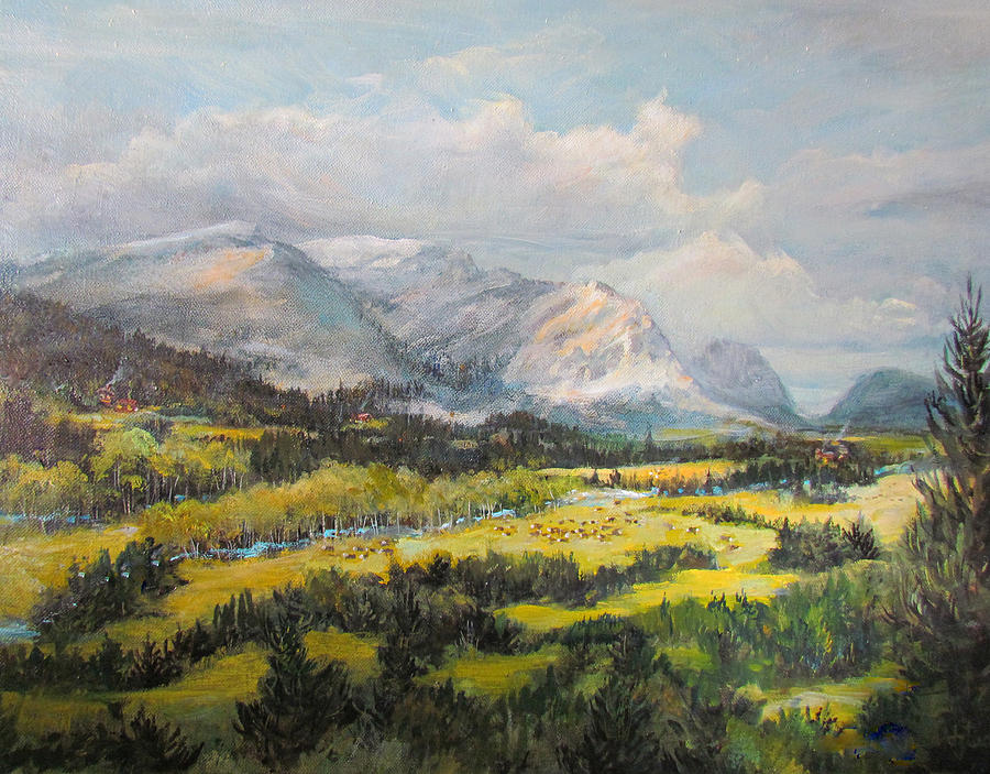 Nature Painting - Glacier Splendor by Donna Tucker