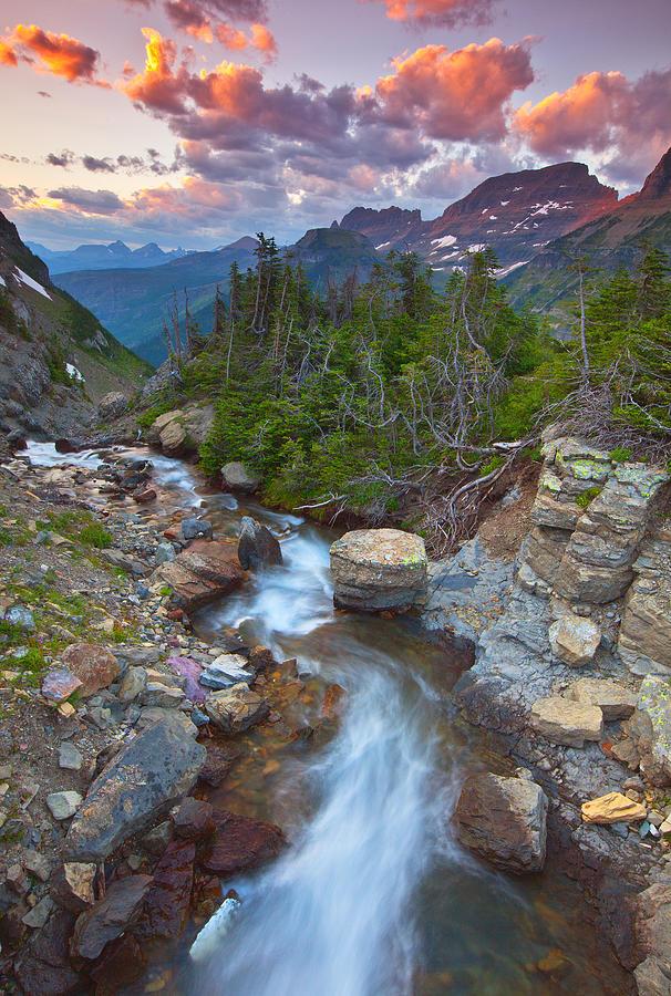Sunset Photograph - Glaciers Wild by Darren  White