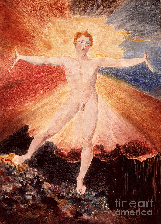 Literature Painting - Glad Day Or The Dance Of Albion by William Blake