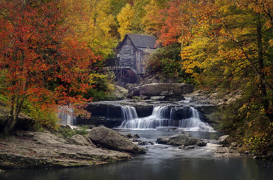 Glade Creek Grist Mill 2 by Michael Donahue