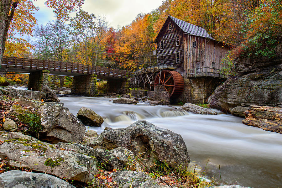 Glade Creek Grist Mil Photograph - Glade Creek Grist Mill-babcock State Park West Virginia by Dick Wood