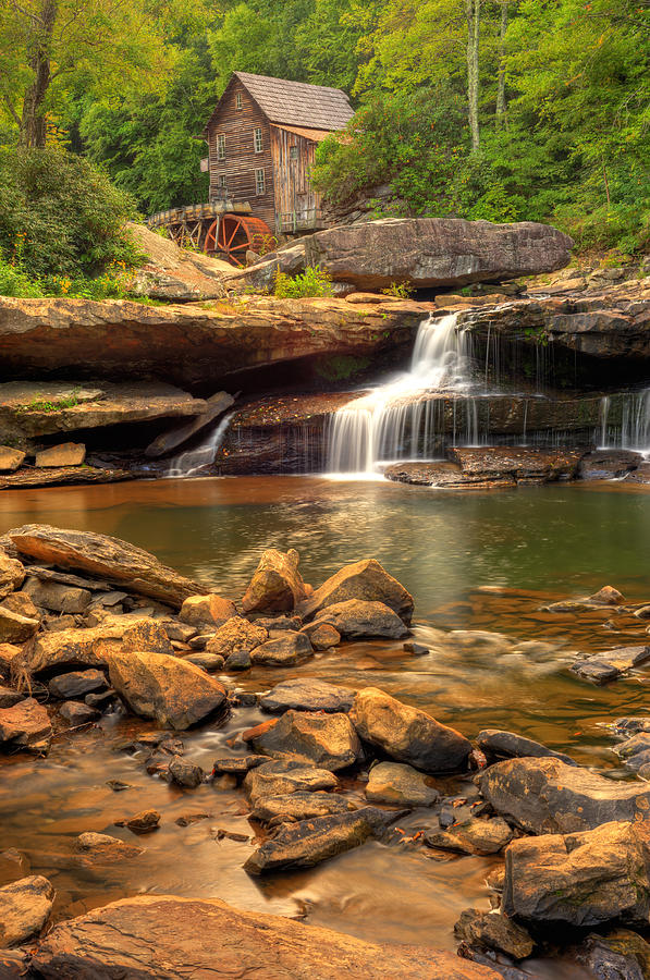 Glade Creek Grist Mill - Layland West Virginia Photograph