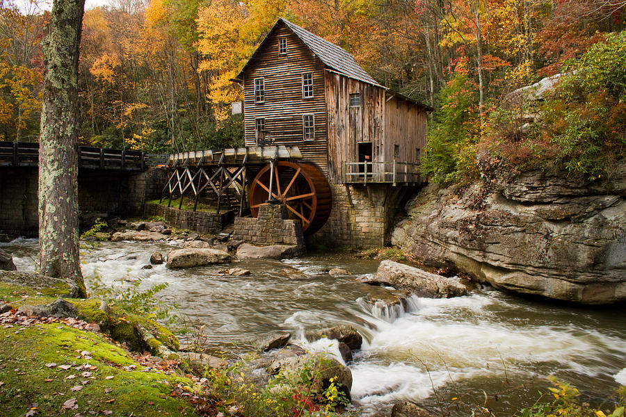 Babcock State Park Photograph - Glade Creek Grist Mill by Nathaniel Kidd