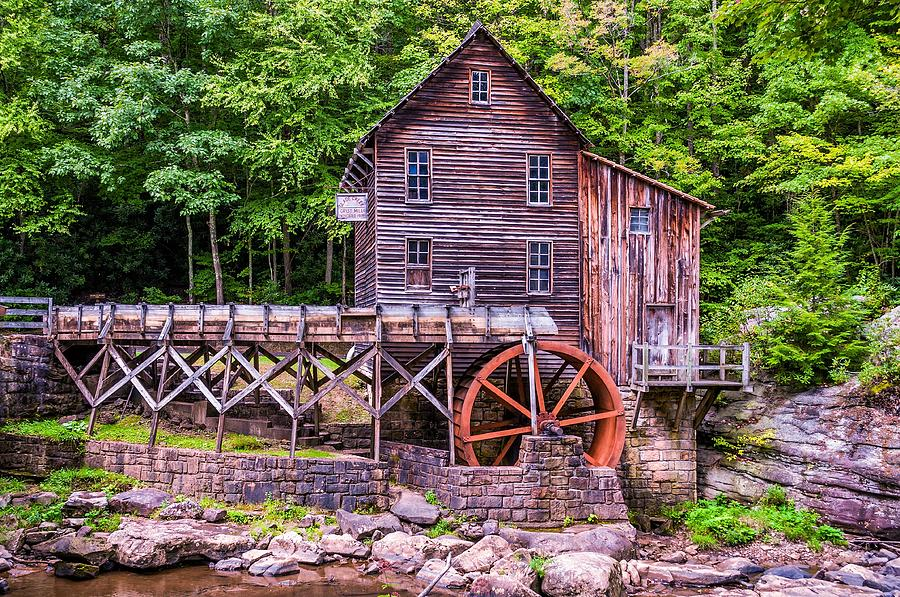 Mill Photograph - Glade Creek Grist Mill by Steve Harrington