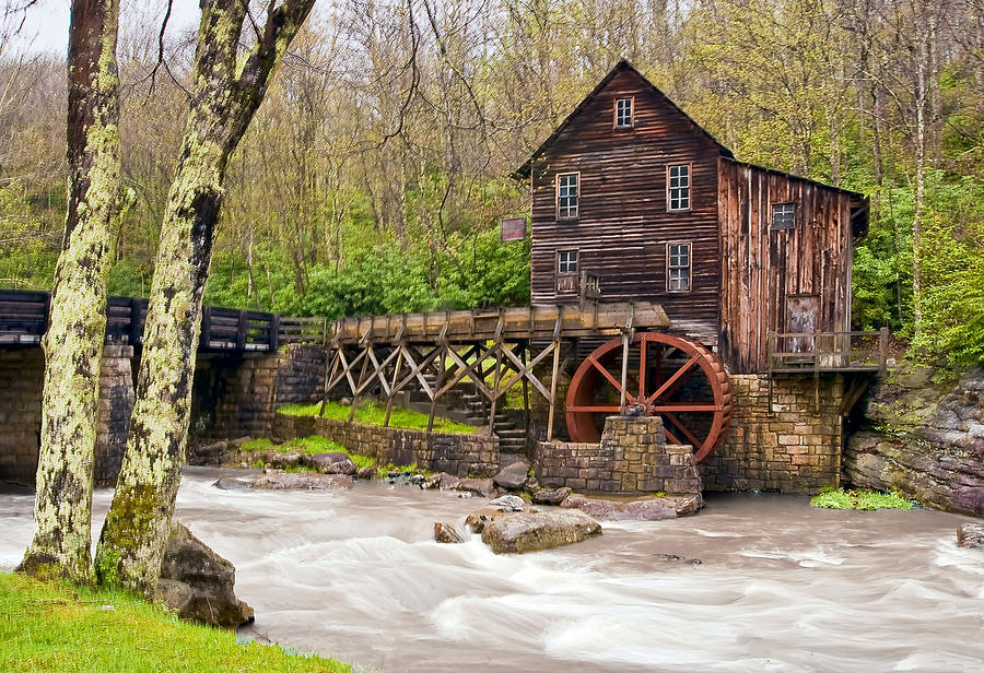 Grist Mill Photograph - Glade Creek by Marcia Colelli
