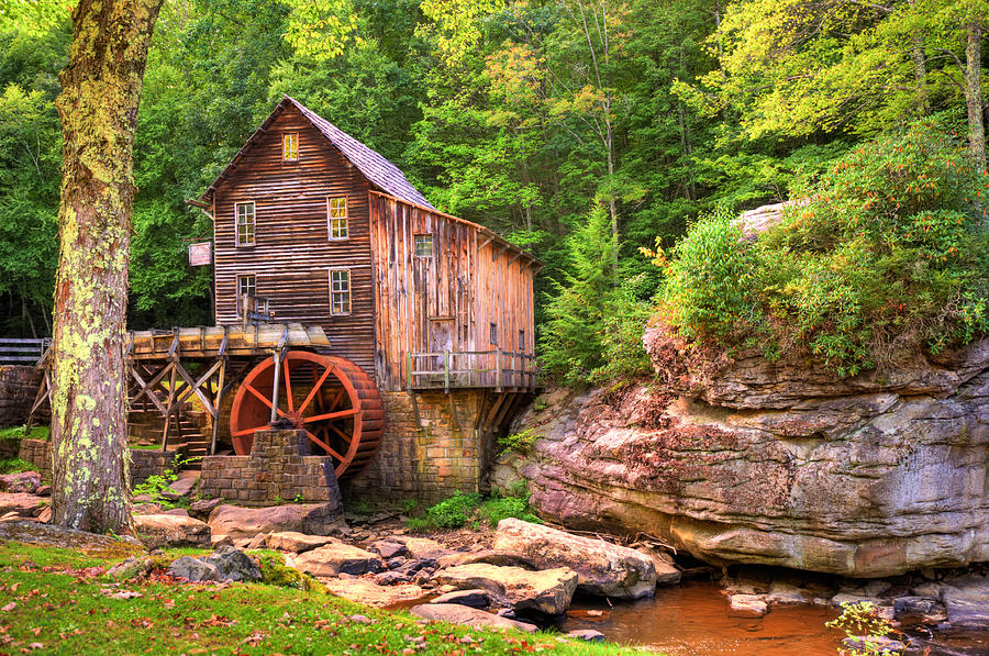 America Photograph - Glade Creek Mill  by Gregory Ballos