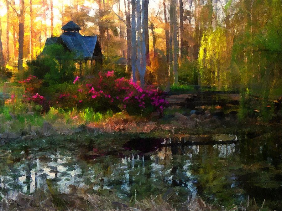 Mark Wickham Painting - Glade Guinevere by Mark Wickham