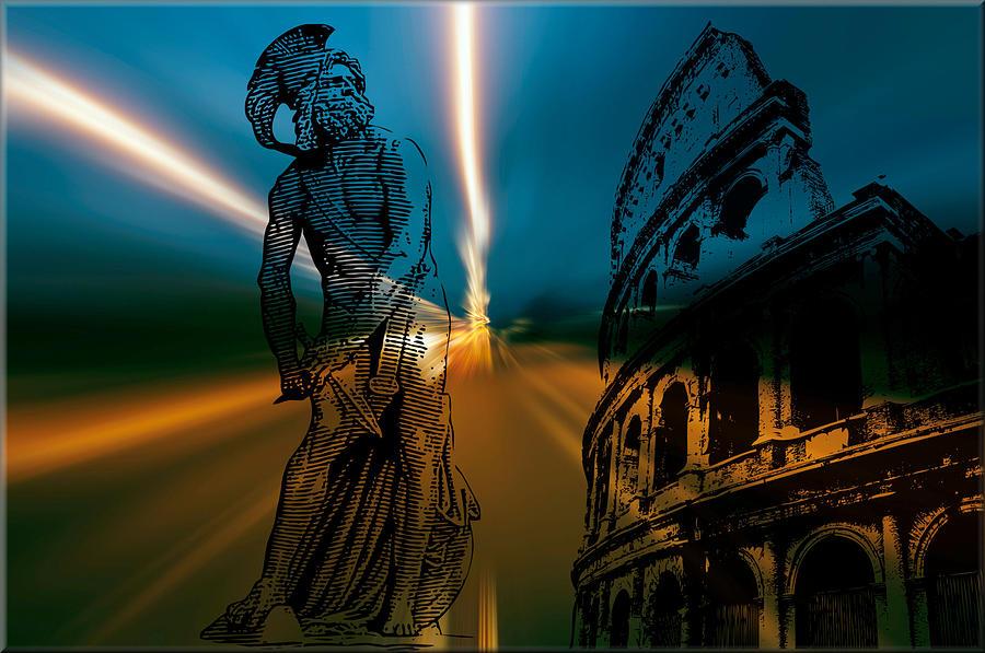 Gladiator Digital Art - Gladiator by Michael Damiani