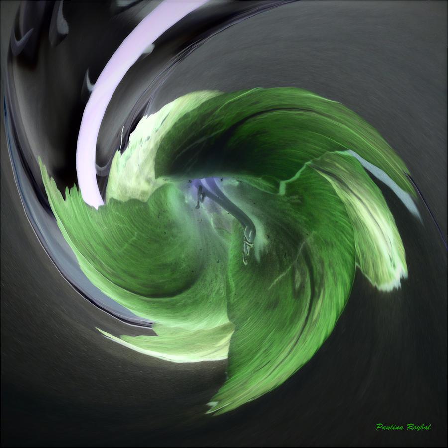 Green Photograph - Gladiolus Abstract by Paulina Roybal