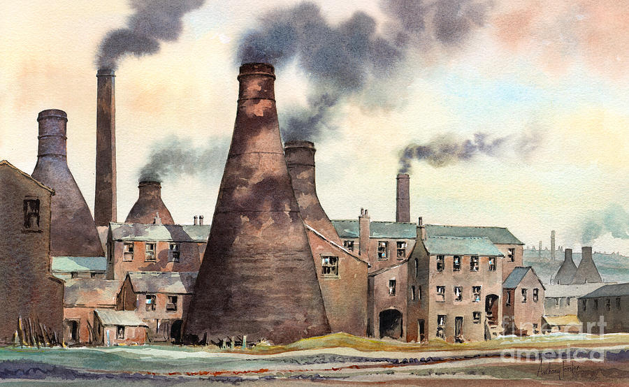 Stoke-on-trent Painting - Gladstone Pottery Works by Anthony Forster