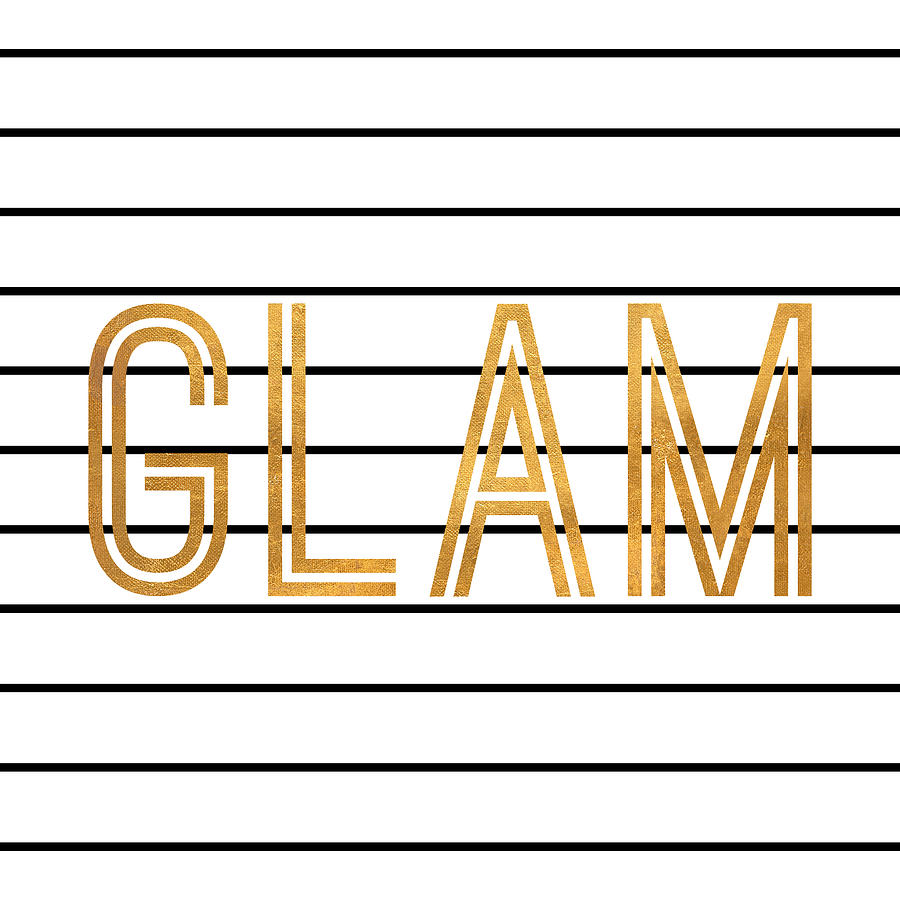 Glam Digital Art - Glam Pinstripe Gold by South Social Studio