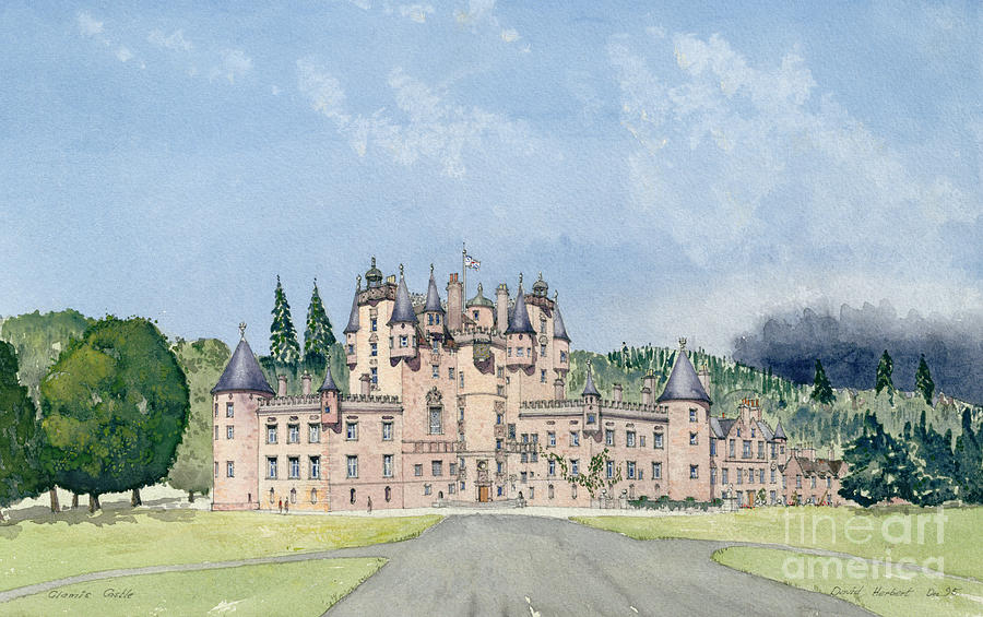 Landscape; Royal Residence Painting - Glamis Castle Tayside  by David Herbert