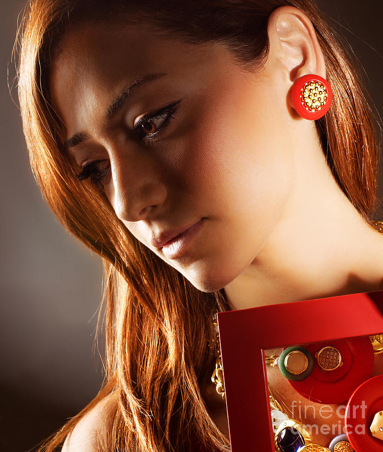 Accessories Photograph - Glamorous Girl by Anna Om