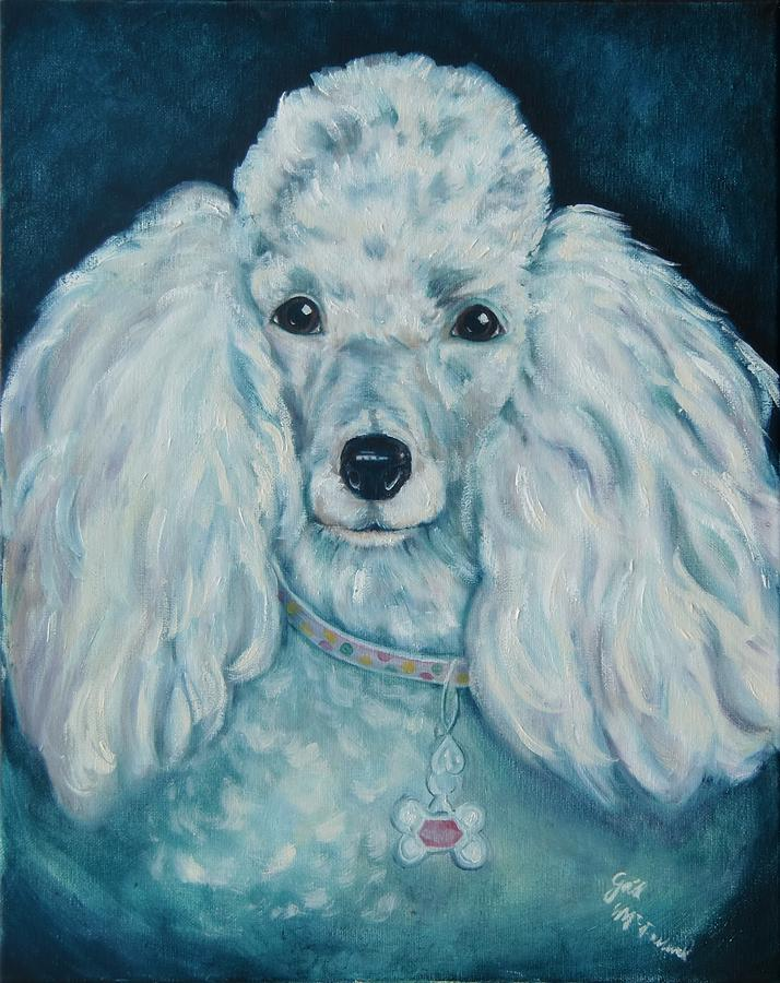 Dog Painting - Glamorous Poodle by Gail McFarland