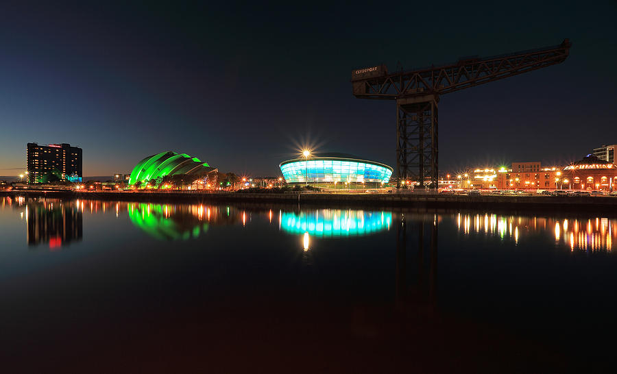 Architecture Photograph - Glasgow Clyde Reflections by Grant Glendinning
