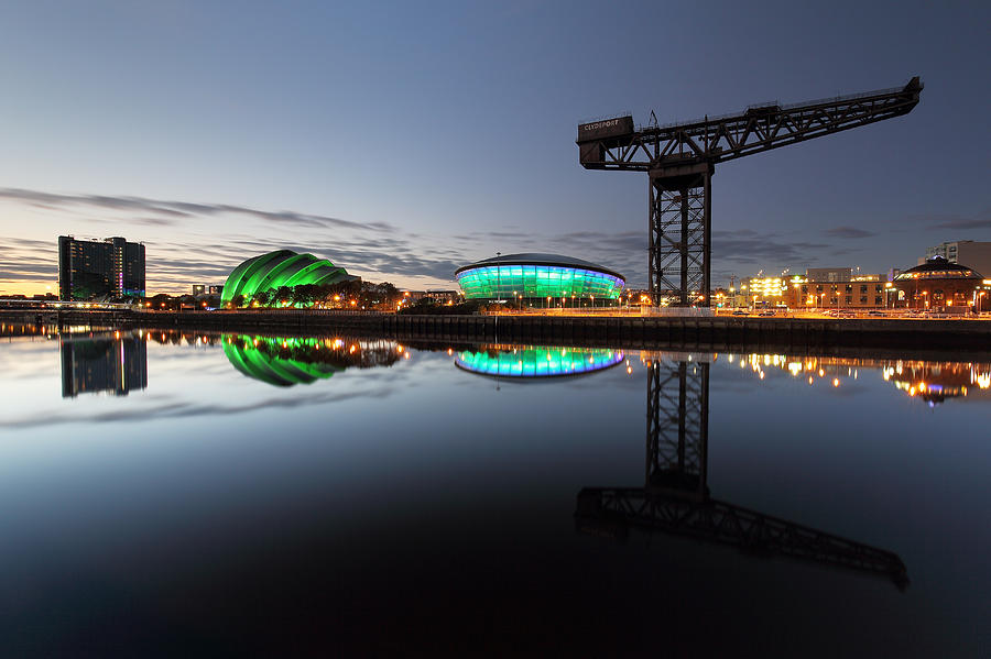 Glasgow Photograph - Glasgow River Clyde Reflection by Grant Glendinning