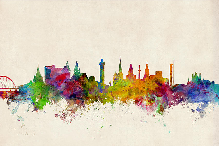 Glasgow Scotland Skyline Digital Art By Michael Tompsett