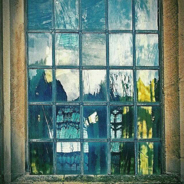 Abstract Photograph - #glass ... #window #cromer by Alexandra Cook