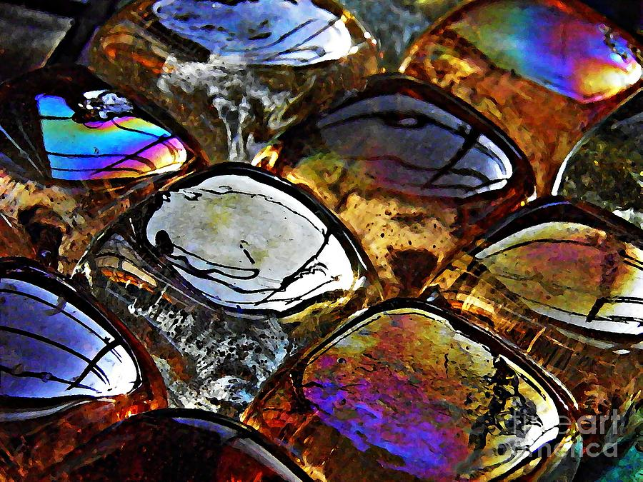 Brown Photograph - Glass Abstract 13 by Sarah Loft