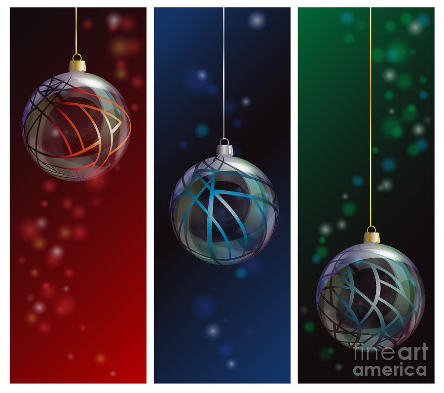 Red Photograph - Glass Bauble Banners by Jane Rix
