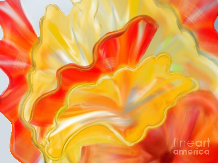 Glass bouquet  by Christine Fournier