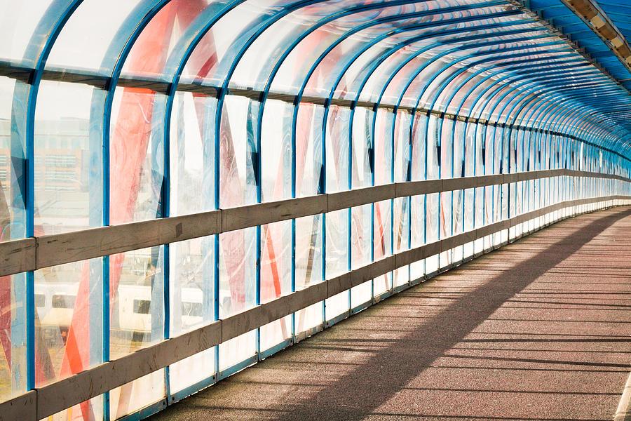 Glass Covered Walkways : Glass covered walkway photograph by tom gowanlock