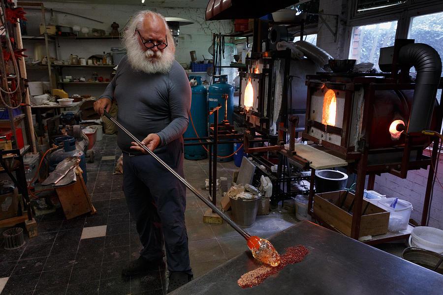 Flemish Photograph - Glass furnace by Paul Indigo