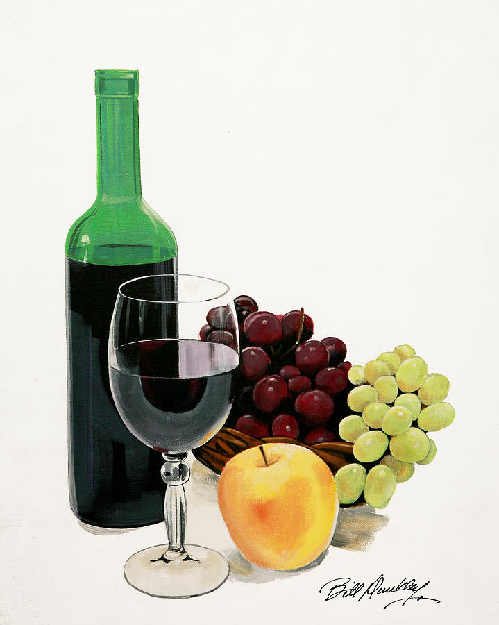 Still Life Painting Painting - Glass Half Full by Bill Dunkley