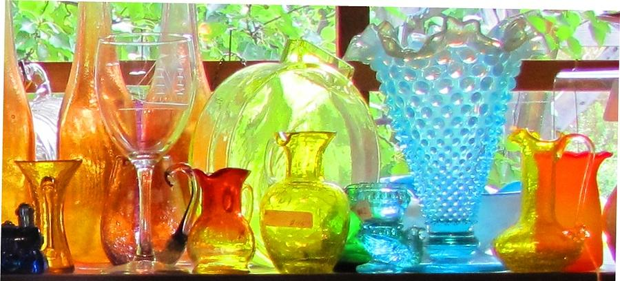 Glass Photograph - Glass In Sunlight by Jeanne Porter