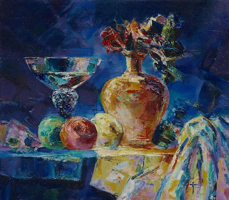 Vase Painting - Glass by Ivan Tanev