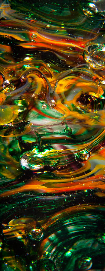 Glass Photograph - Glass Macro Abstract Ego1 by David Patterson