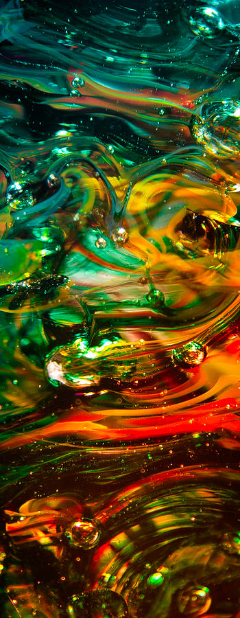 Glass Photograph - Glass Macro Abstract Ego1ce by David Patterson