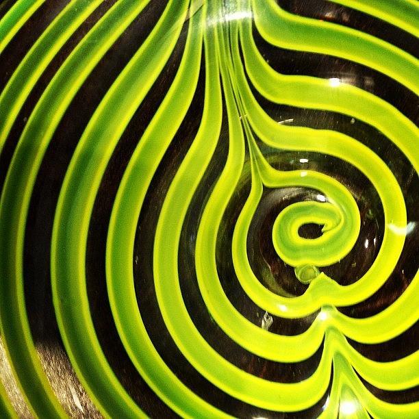 Random Photograph - #glass #neon #black #yellow #bowel by Amber Campanaro