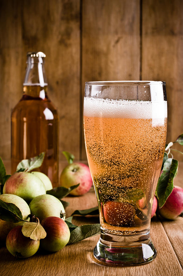 Cider Photograph - Glass Of Cyder by Amanda Elwell