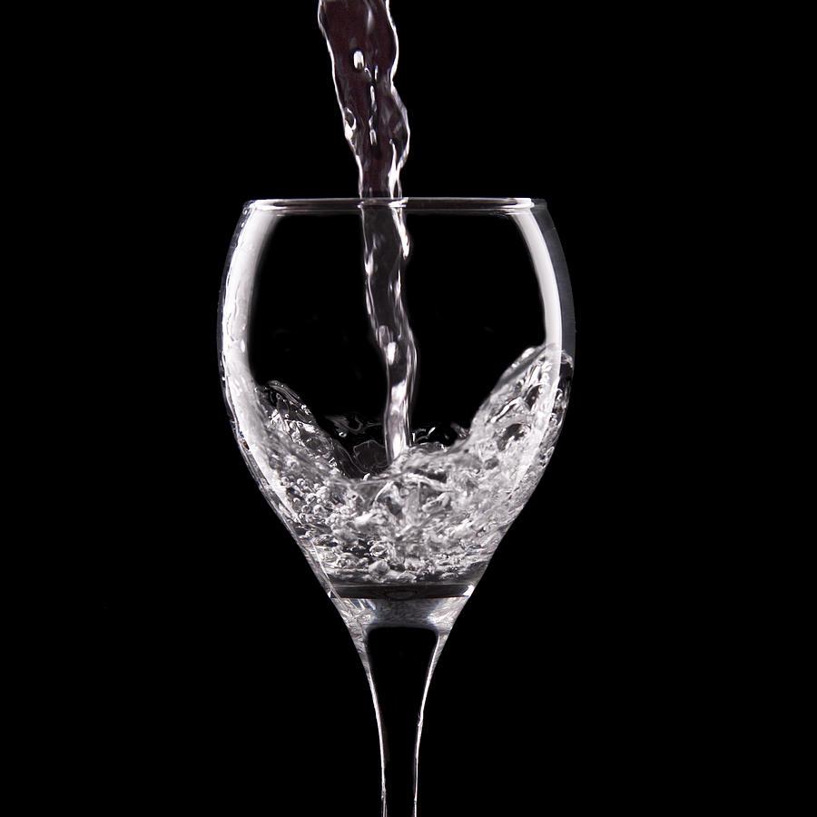 B&w Photograph - Glass Of Water by Tom Mc Nemar