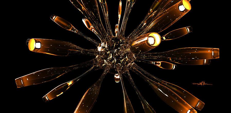 Glass Organism Hot Digital Art