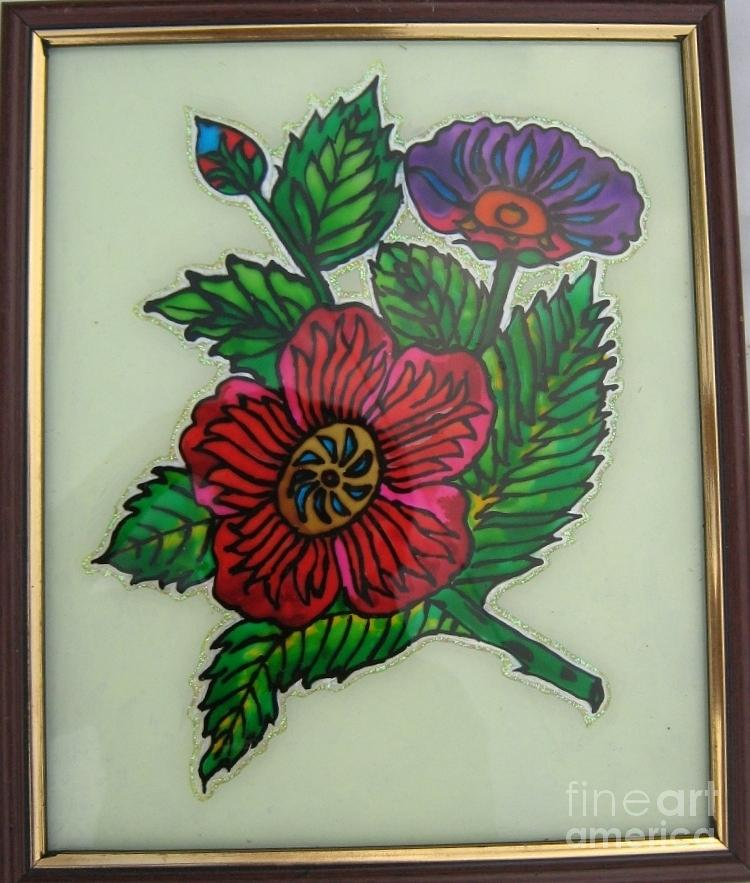 Glass painting glass art by gayathri thangavelu for How to paint glass painting
