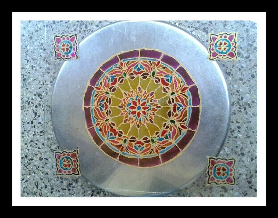 Glass Painting Glass Art by Juna Dutta