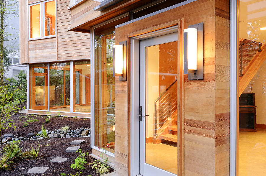 Abode Photograph - Glass Windows And Doors Of Modern House by Will Austin
