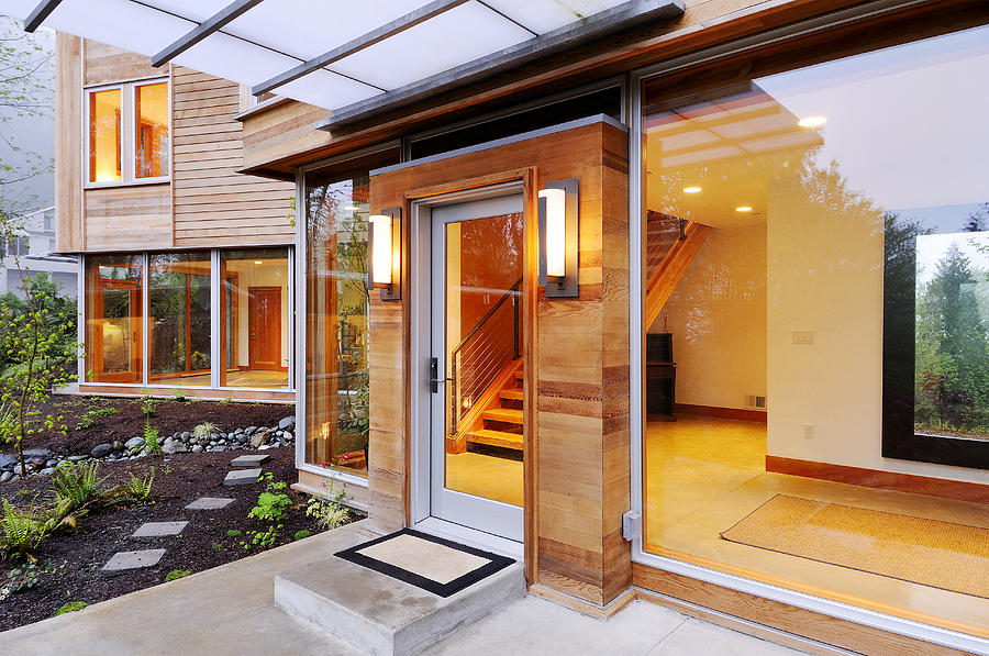Abode Photograph - Glass Windows In Modern Home by Will Austin