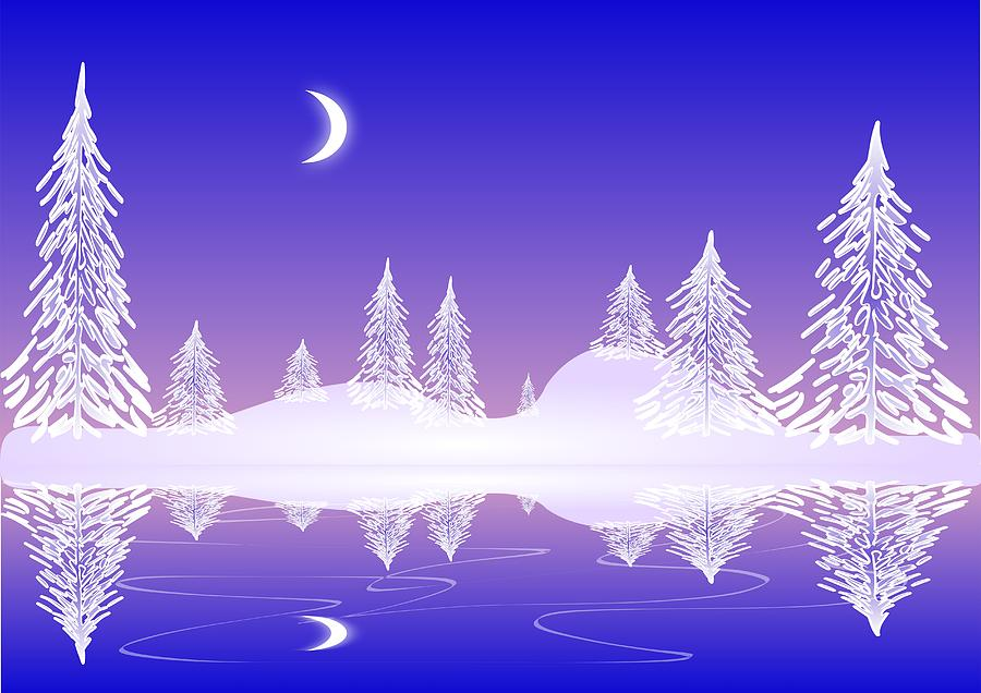 Cool Digital Art - Glass Winter by Anastasiya Malakhova