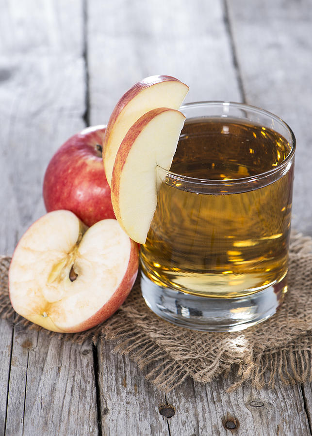 Glass With Apple Juice Photograph