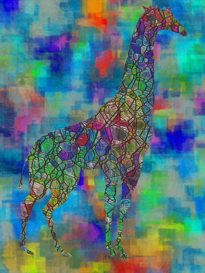 Digital Painting - Glassed Giraffe by Jack Zulli