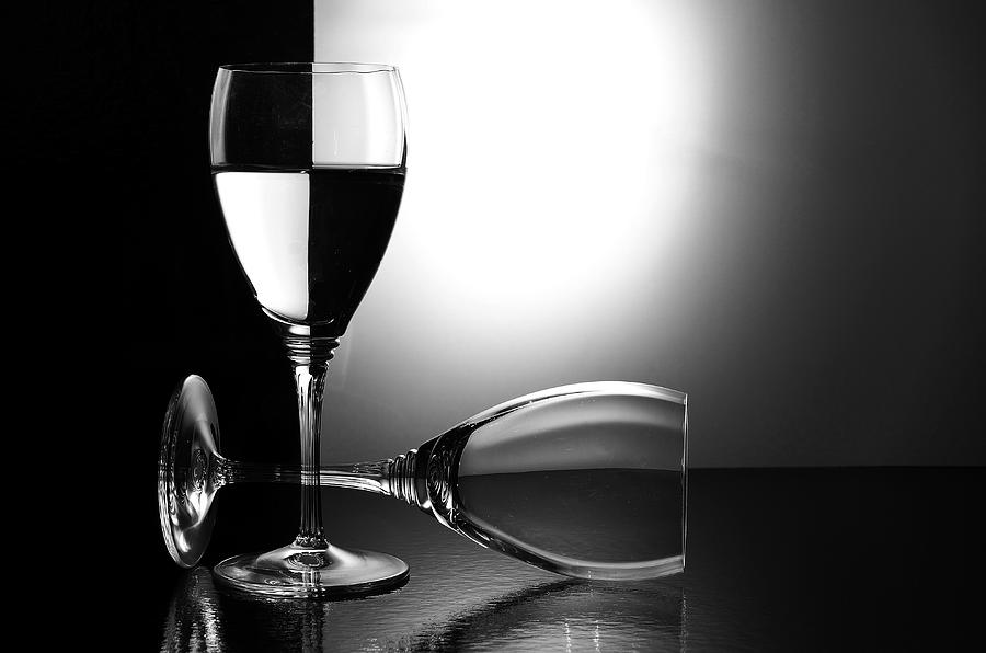 Wine Glass Photograph - Glasses by