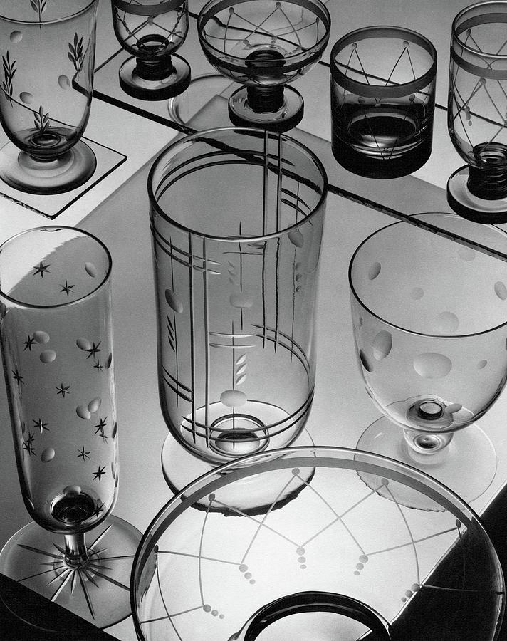 Glasses And Crystal Vases By Walter D Teague Photograph by The 3