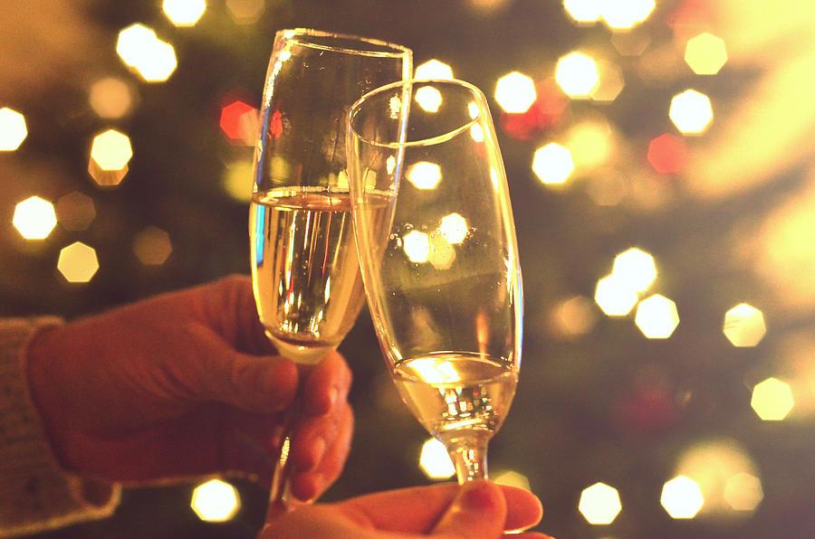 Glasses of champagne Photograph by Photo by Ira Heuvelman-Dobrolyubova