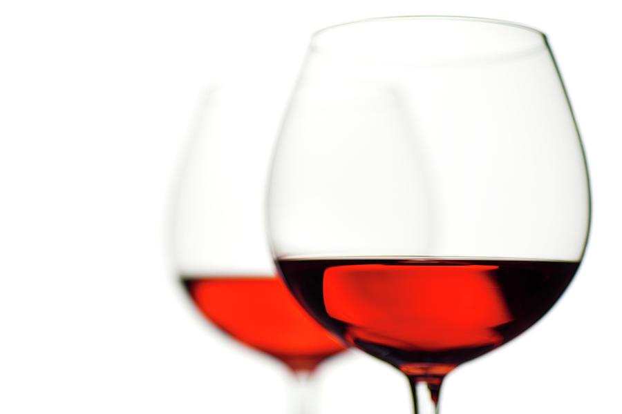 Glasses Of Wine Photograph by Ineskoleva