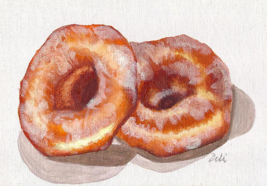 Glazed Donuts Painting - Glazed Donuts by Debi Starr