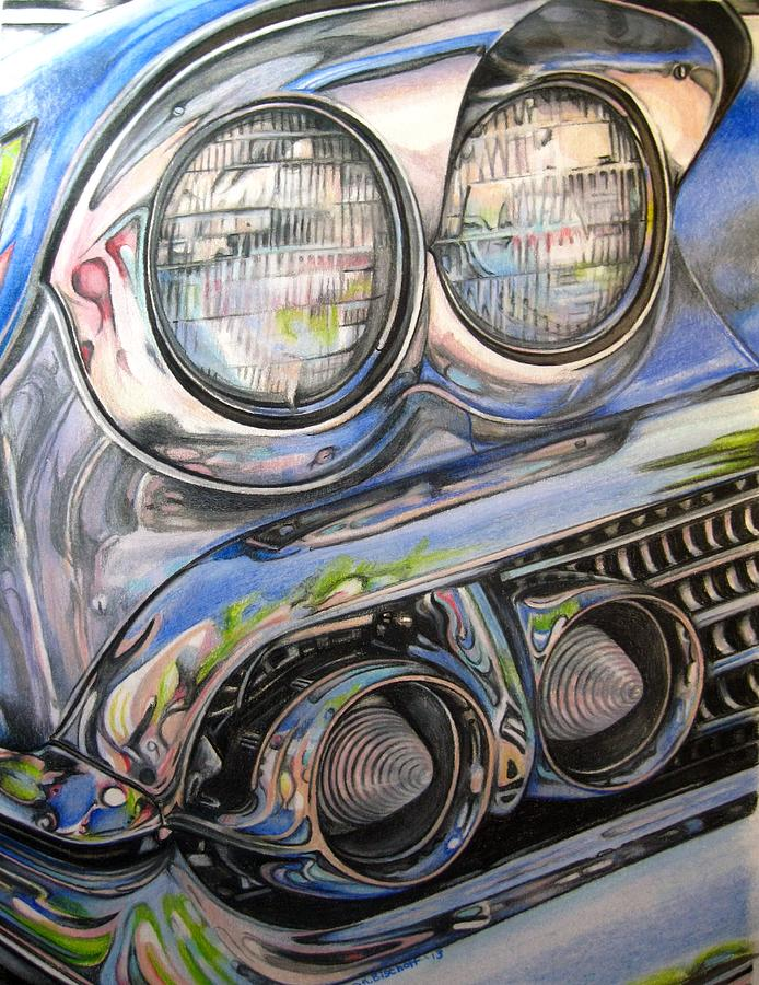 Color Pencil Drawing - Gleaming by Kathleen Bischoff