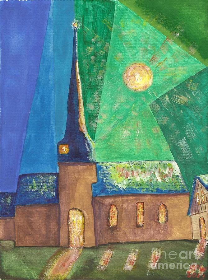 Church Painting - Glemroda Light Of God by John Williams